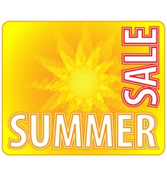 Summer sale - information message for customers vector
