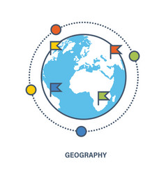 Education geography as a subject discipline vector