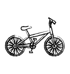 monochrome sketch of sport bike in white vector image