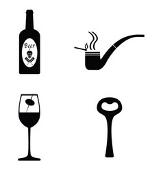 Pub icon set vector