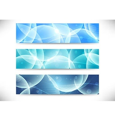 Collection of transparent headers vector image