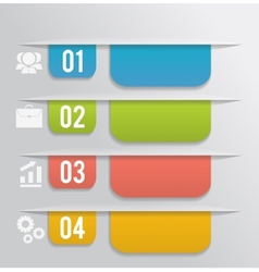 Set of bookmarks stickers labels tags vector image