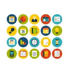 Flat icons set 8 vector image