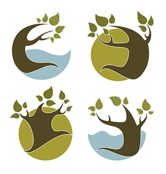Nature emblems vector