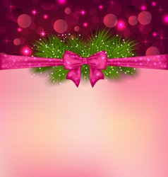 Christmas elegance background with fir branches vector