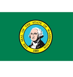 Washington flag vector