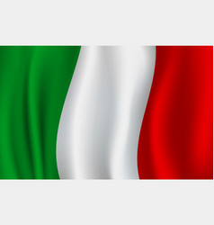 3d flag of italy italian national symbol vector image