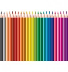 vector set of colored pencils vector image
