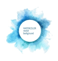 Watercolor circle hand paint on white background vector