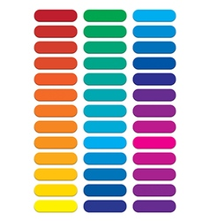 Blank rainbow pill web buttons vector