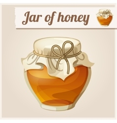 Jar of honey vector