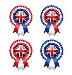 British rosettes vector