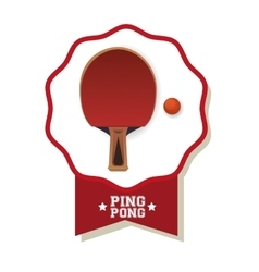 Ping pong sport design vector