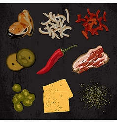 Ingredients for cooking vector