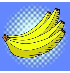 Banana pop art vector