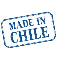 Chile - made in blue vintage isolated label vector