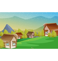 A colony of houses vector