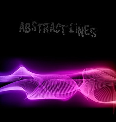 Abstract lines vector