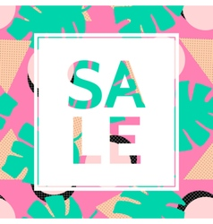 Abstract sale poster design vector