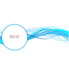 Blue wave abstract graphic design vector