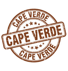 Cape verde brown grunge round vintage rubber stamp vector