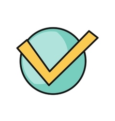 Check mark round icon vector