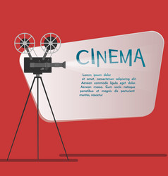 Cinema background or banner movie flyer or ticket vector