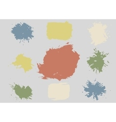 Colorful Retro Stains Blots Splashes Set vector image