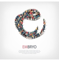 embryo people sign 3d vector image vector image