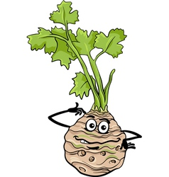 funny celery vegetable cartoon vector image vector image