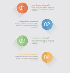 infographic options with long shadow vector image vector image