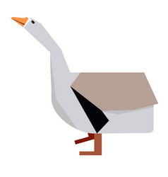 Isolated abstract duck vector