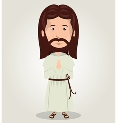 Jesus christ pray design isolated vector image vector image