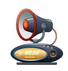Megaphone alarm clock vector