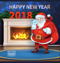 merry christmas and happy new year 2018 realisti vector image vector image