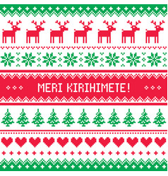 merry christmas in maori - new zealand pattern vector image vector image