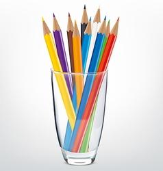 Pencils glass vector