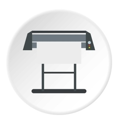 Platen for printing machines icon flat style vector