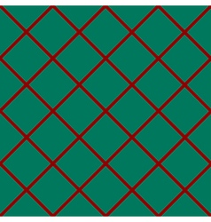 Red grid chess board diamond green background vector