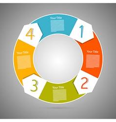 Retro circle progress steps for tutorial vector