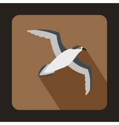 Seagull icon flat style vector image