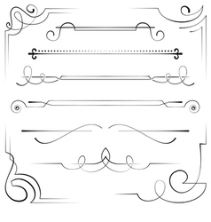 Set of corners and bookplate vector