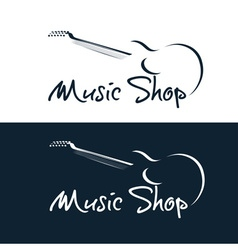 set of music shop emblems vector image vector image