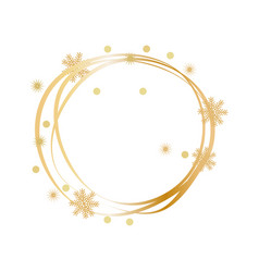 Sketch of winter decorative frame with circles vector