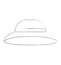 vintage hat symbol vector image