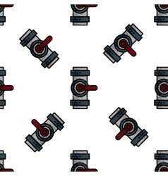 Water pipes flat icon pattern vector