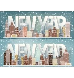 Winter urban landscape City vector image