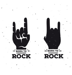 Born to rock vintage poster vector