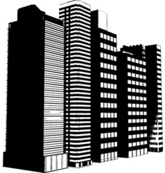 grunge buildings vector image