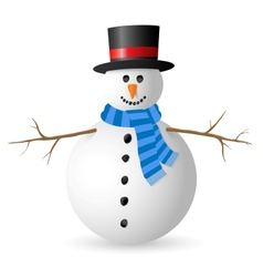 Snowman isolated on white background vector